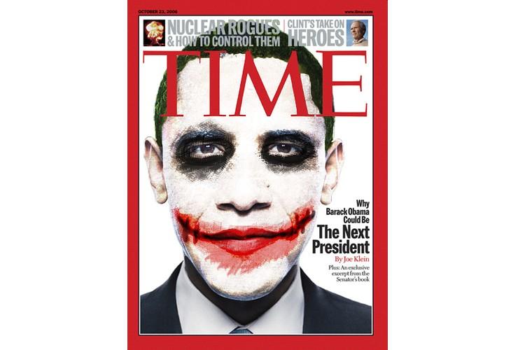 Des affiches représentant Barack Obama en Joker ont...