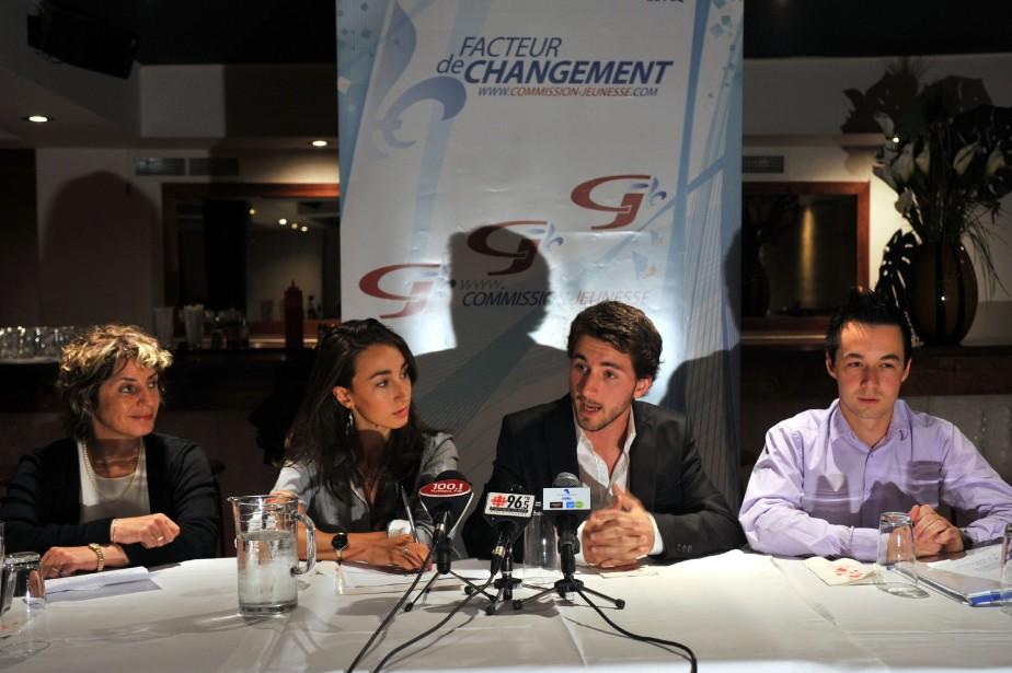Les jeunes liberaux du Quebec (Danielle St-Amand, Marie-Pier... (PHOTO: ARCHIVES LE NOUVELLISTE)