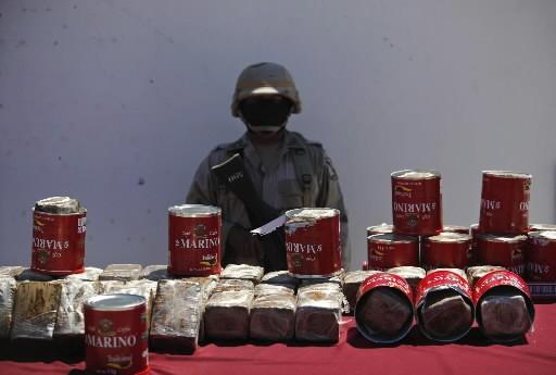 Des agents mexicains ont saisi mercredi 127 boîtes... (Photo AP)