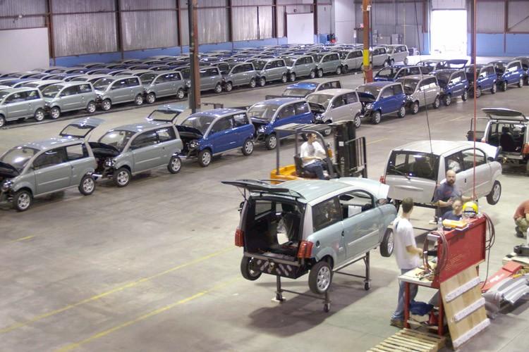 Une chaîne d'assemblage de l'usine de Zenn Motor,... (Photo: Bloomberg)