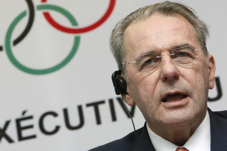 Le président du CIO, Jacques Rogge... (Photo: AFP)