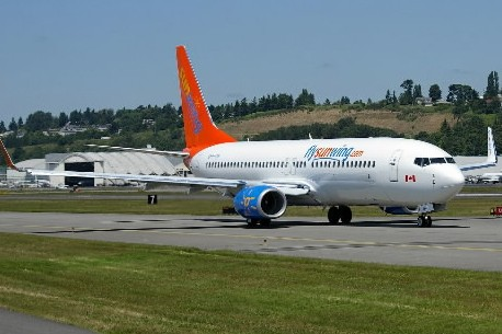 Un avion de la compagnie Sunwing... (Photo: Archives La Presse)