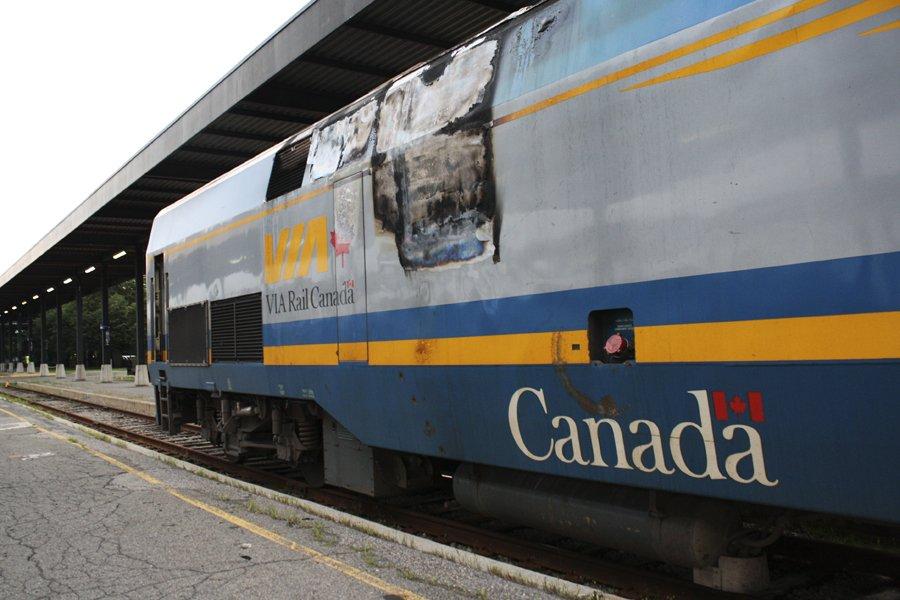 Un début d'incendie dans un train qui reliait... (Photo: Étienne Ranger, Le Droit)