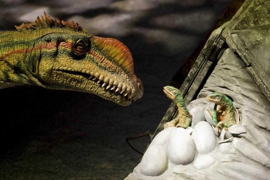 Une dizaine d'espèces de dinosaures nous sont présentés,... (Photo: André Pichette, La Presse)