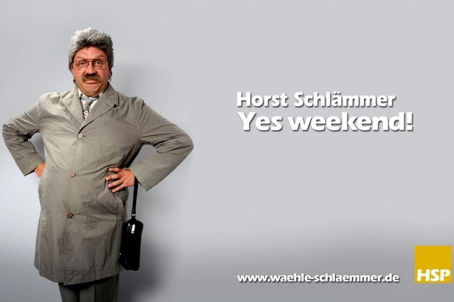 Hörst Schlämmer a trouvé un slogan très «Obamaien»:... (Photo waehle-schlaemmer.de)