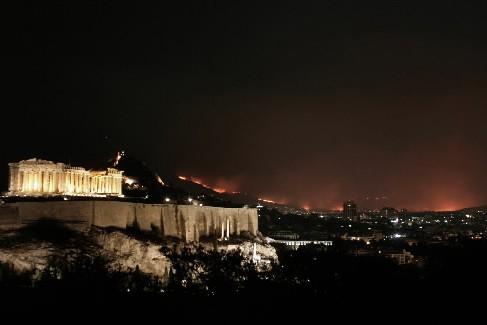 La banlieue d'Athènes est désormais la proie des... (Photo AFP)