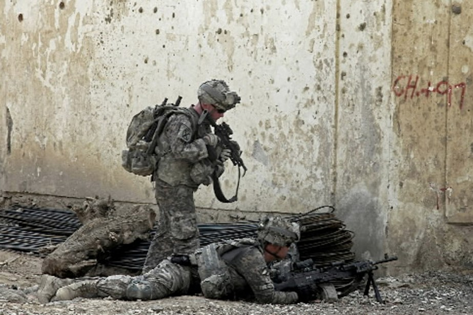 Environ 20 000 soldats américains étaient présents en... (Photo AFP)