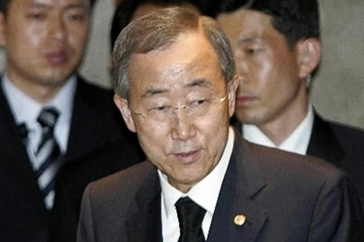 Le secrétaire général de l'ONU, Ban Ki-moon, se... (Photo: Reuters)