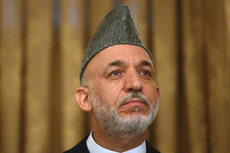 Le camp de Hamid Karzaï, favori du scrutin,... (Photo AFP)