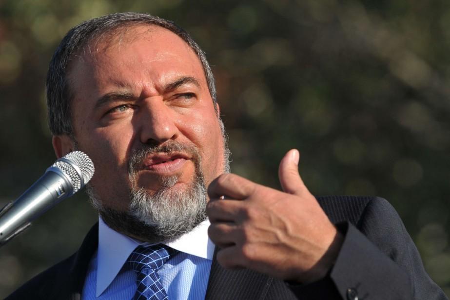 Le chef de la diplomatie israélienne, Avigdor Lieberman.... (Photo AFP)