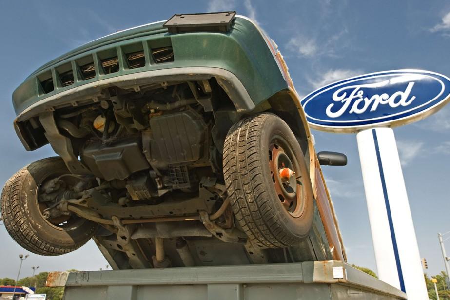 Ford a vu deux de ses voitures dans... (Photo AFP)