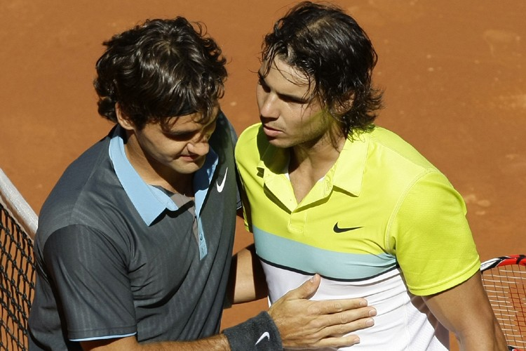 Roger Federer et Rafael Nadal... (Photo: Reuters)