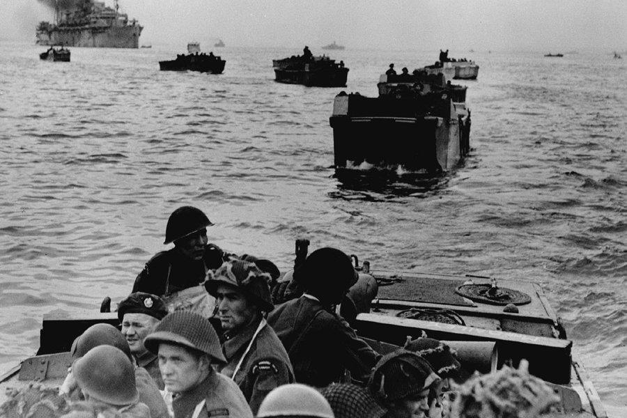 Le débarquement de Normandie, en juin 1944.... (Photo d'Archives La Presse canadienne)