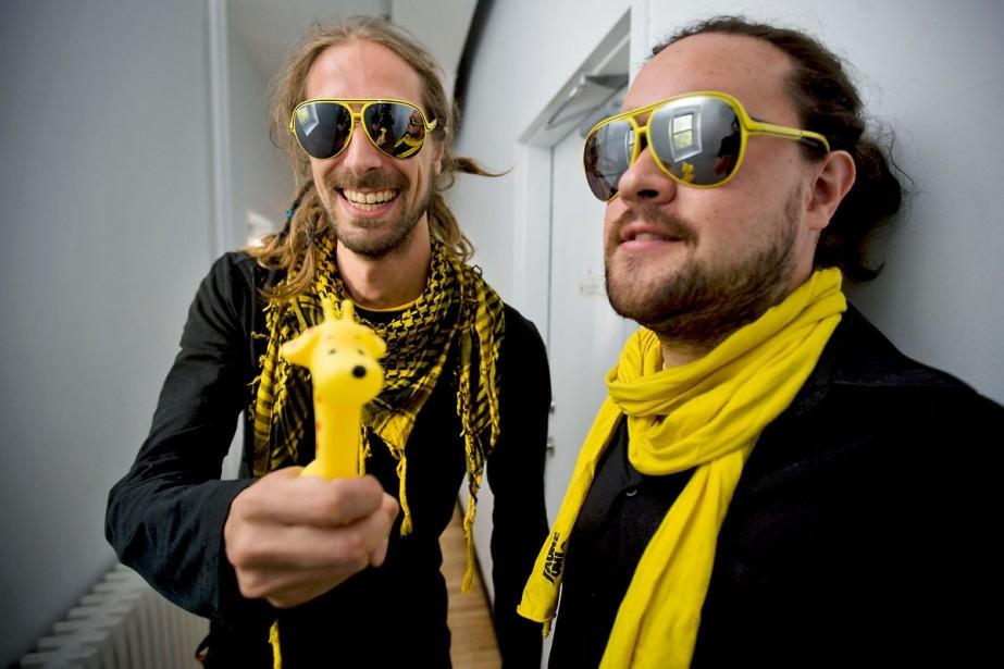 Funky Flip et Maestro Mez se sont rencontrés... (Photo André Pichette, La Presse)