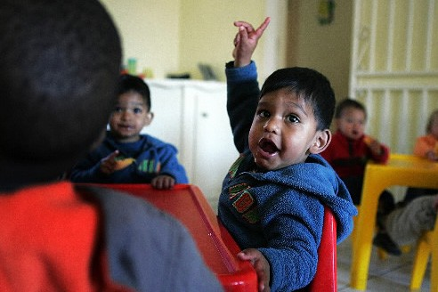 Muhammed Rayhan Sayed, deux ans, lors de sa... (Photo: AFP)