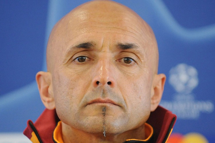 L'entraîneur de l'AS Rome, Luciano Spalletti, a remis... (Photo: AFP)