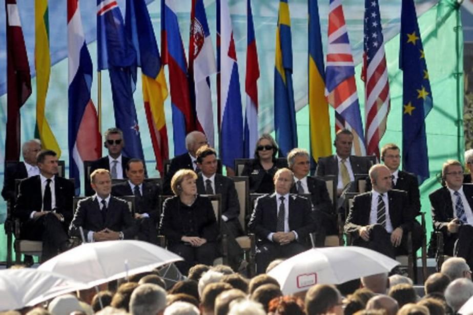 Des dirigeants d'une vingtaine de pays dont la... (Photo AP)