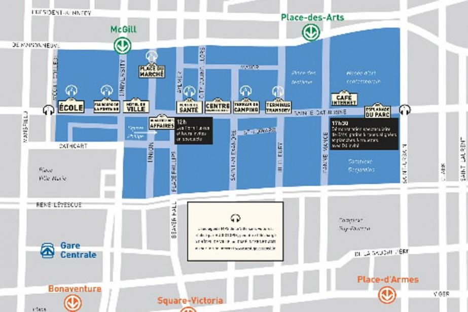 Les organisateurs de la journée En ville sans ma... (Carte fournie par l'AMT)