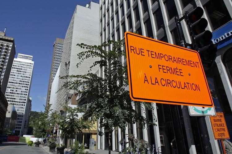 Le tronçon de la rue Peel, entre les... (Photo: Robert Mailloux, La Presse)
