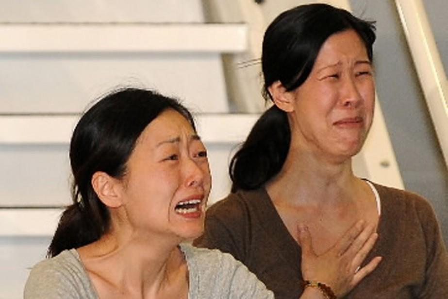 Les journalistes Laura Ling et Euna Lee à... (Photo AFP)