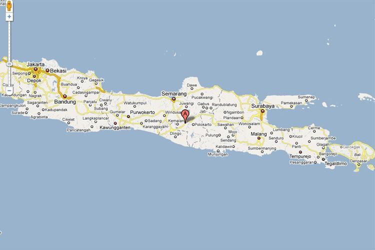 L'île indonésienne de Java.... (Photo: Google Map)