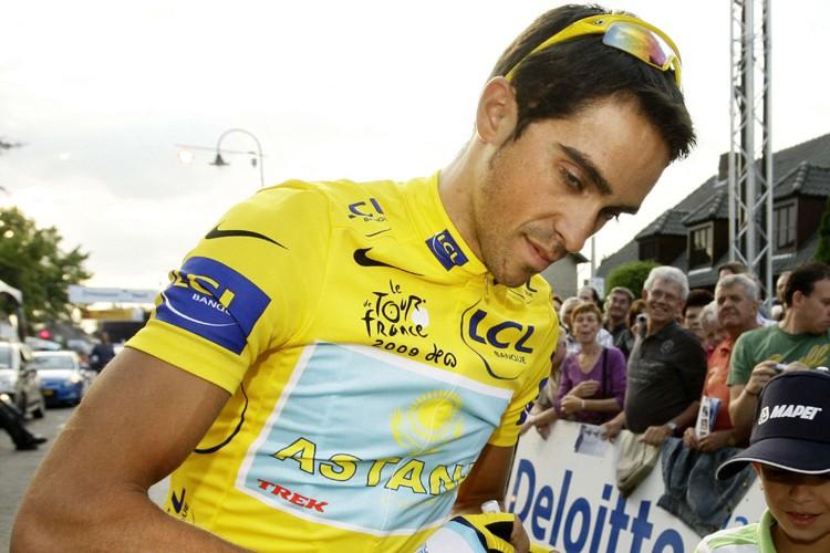 Alberto Contador... (Photo: AFP)