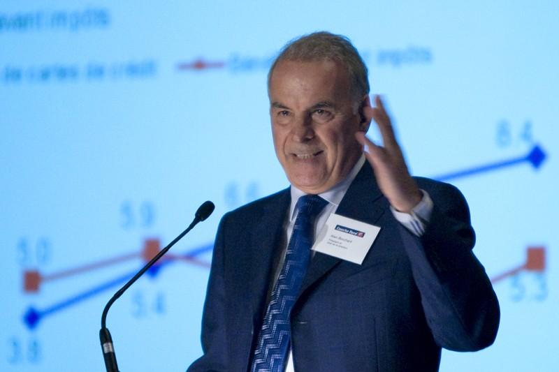 Alain Bouchard, président de Couche-Tard, hier à l'assemblée... (PHOTO ALAIN ROBERGE, LA PRESSE)