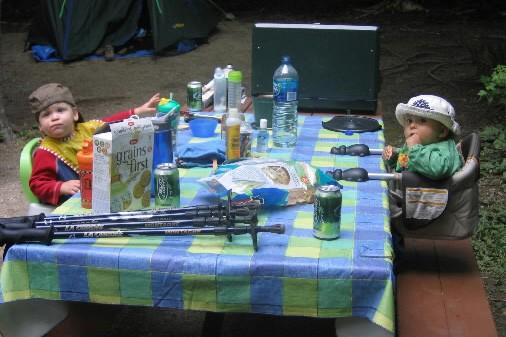 Partir en camping avec un bébé, c'est possible... (Photo: Pierre-Marc Durivage, La Presse)