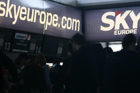 La compagnie SkyEurope n'existe plus depuis lundi soir... (Photo: Reuters)