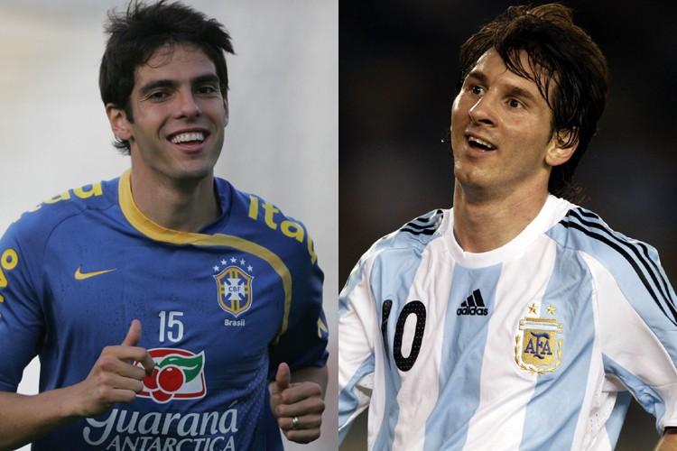Le duel de samedi entre le Brésilien Kaka... (Photos: AFP)