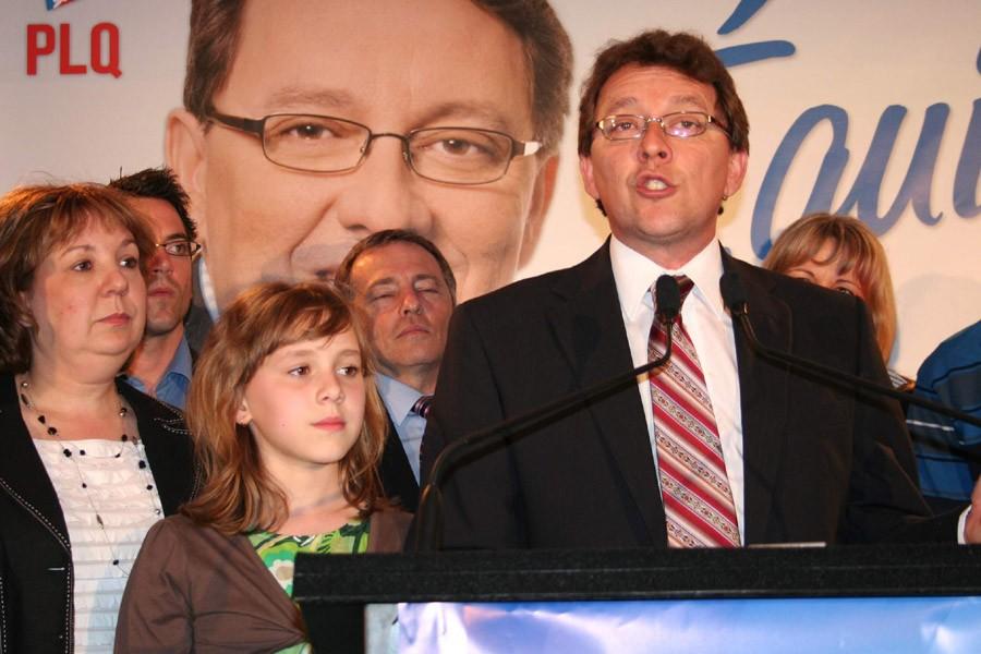 Jean D'Amour lors de son élection dans la... (Photo: Marc Larouche, collaboration spéciale, Le Soleil)