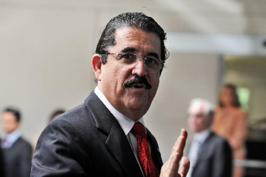 Le président déchu du Honduras doit rencontrer la... (Photo AFP)