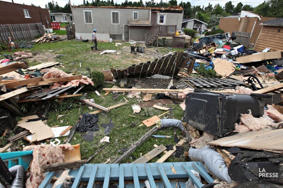 La tornade de force F2 qui a frappé... (Photo: François Roy, La Presse)