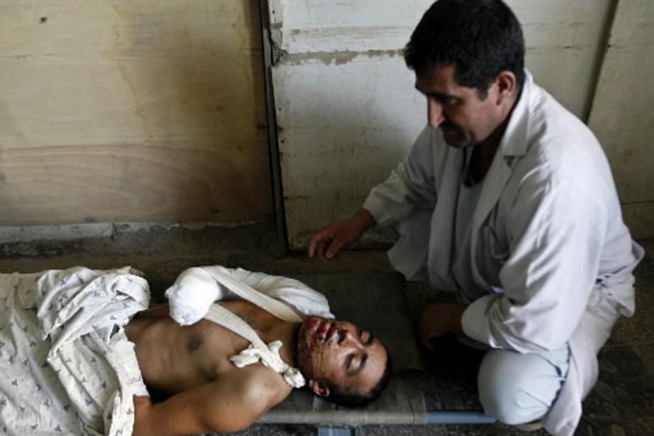 Plusieurs victimes du raid, gravement blessées ou brûlées,... (Photo AFP)