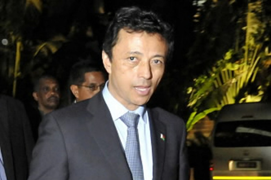 L'actuel homme fort de Madagascar, Andry Rajoelina, exige... (Photo Reuters)