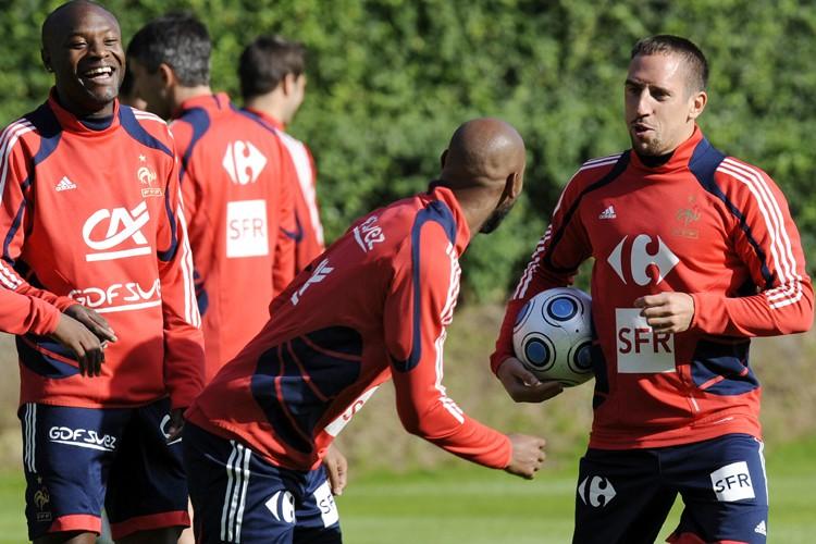William Gallas, Nicolas Anelka et Franck Ribéry avaient... (Photo: AFP)