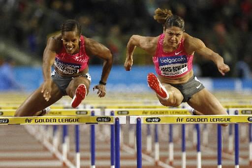 Priscilla Lopes-Schliep, à droite, n'a été devancée que... (Photo Reuters)