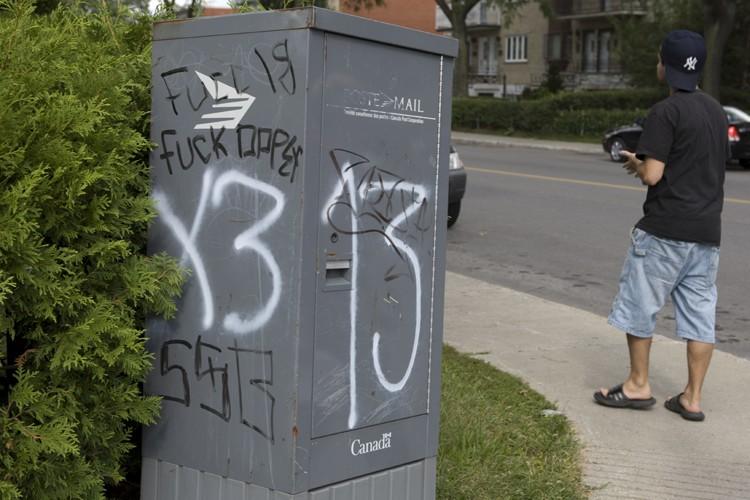 Malgré la multiplication des graffitis associés aux gangs... (Photo: André Pichette, La Presse)