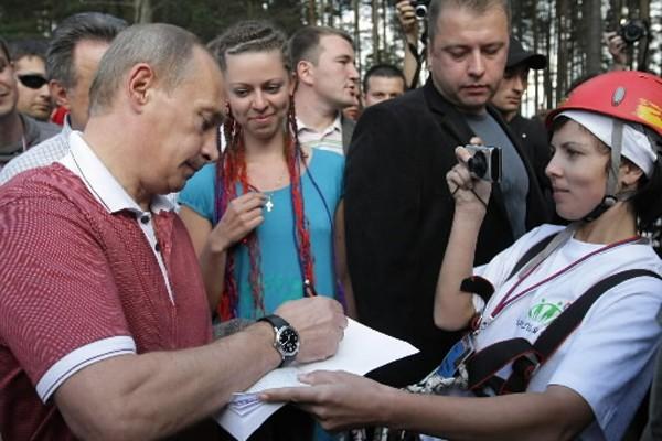 Le premier ministre russe Vladimir Poutine a fait... (Photo: AP)