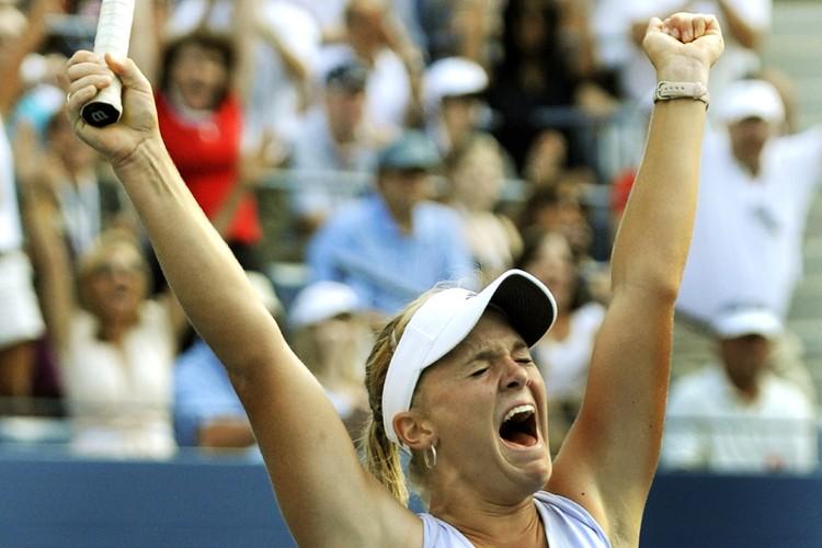 Melanie Oudin réagit après sa victoire.... (Photo: AFP)