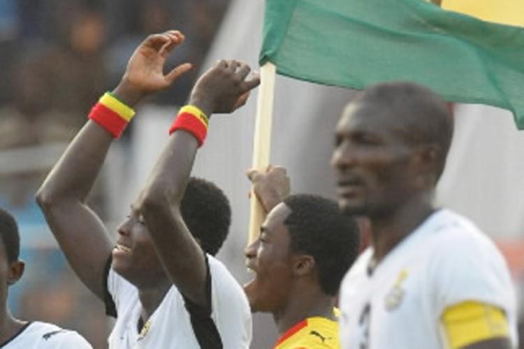 Les joueurs du Ghana ont célébré leur victoire... (Photo: AFP)