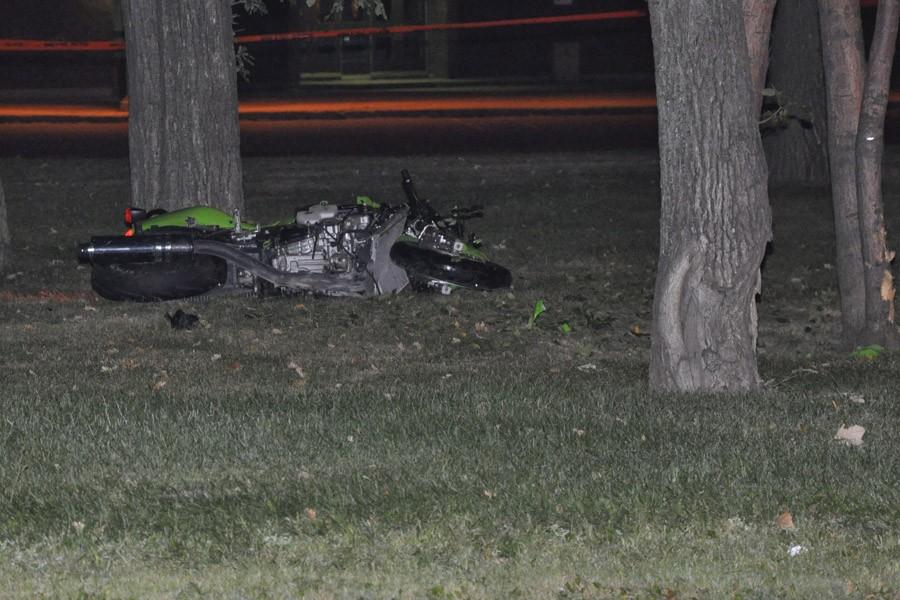 L'homme a perdu le contrôle de sa motocyclette... (Photo: jprancourt @dn5, collaboration spéciale)