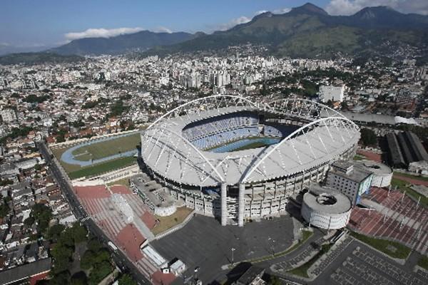 Le stade qui accueillera les athlètes des Jeux... (Photo: AFP)