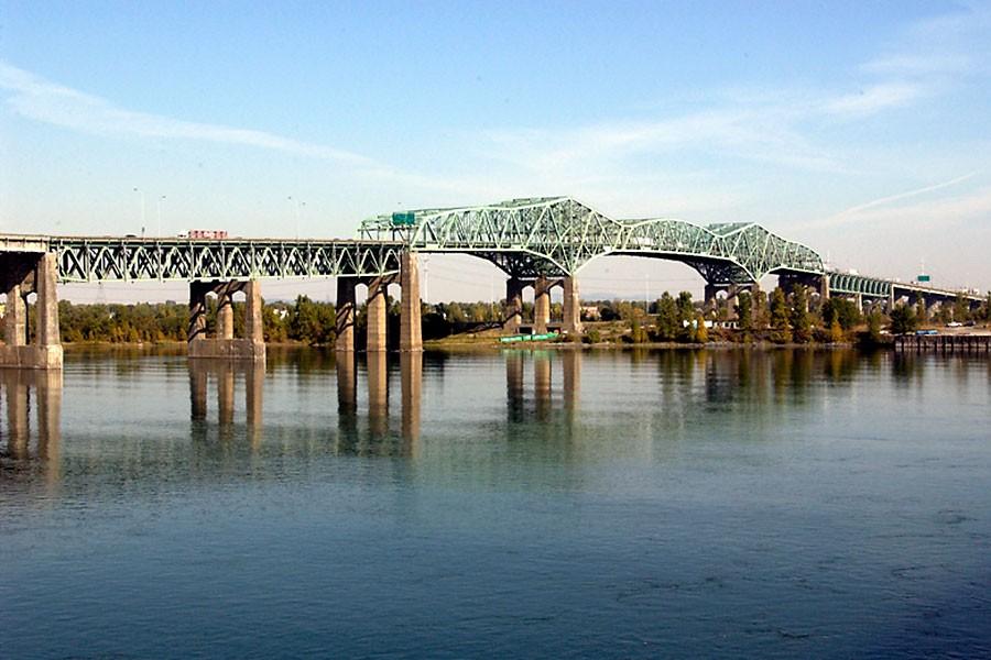 Le pont Champlain fera l'objet de travaux cet... (Photo: Jean Goupil, Archives La Presse)