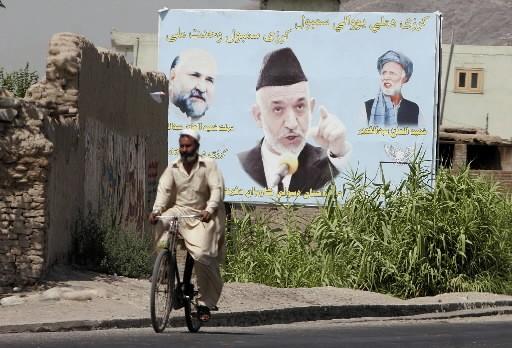 Plus de la moitié des électeurs afghans (54,1%)... (Photo AP)