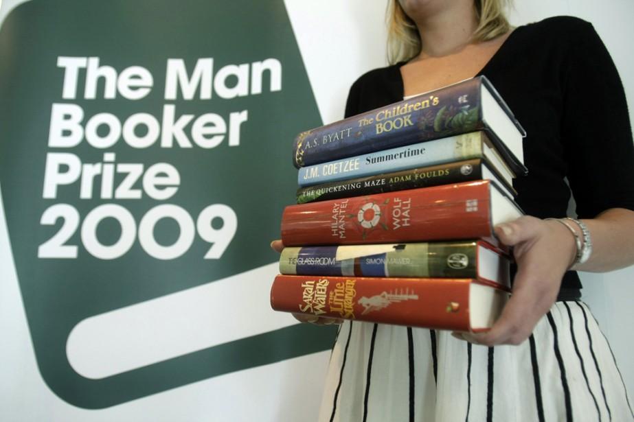 Les six livres finalistes pour le Booker Prize.... (Photo: AP)