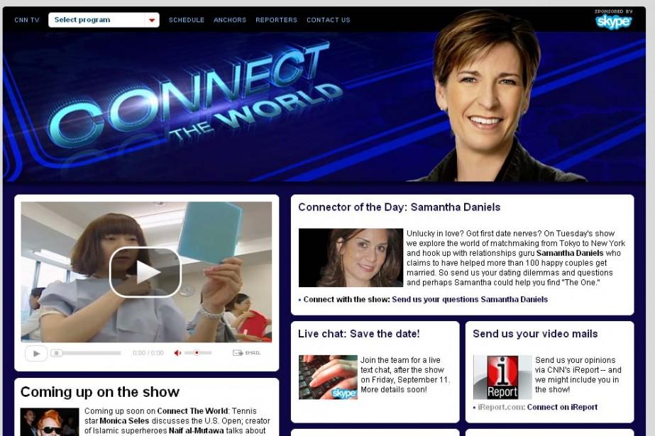 Capture d'éran du site Connect the World sur...