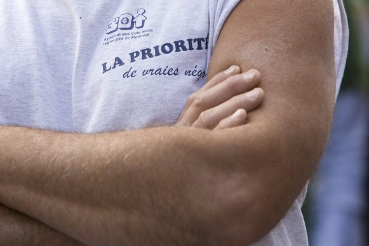 Les citoyens et commerçants du centre-ville... (Photo: David Boily, La Presse)