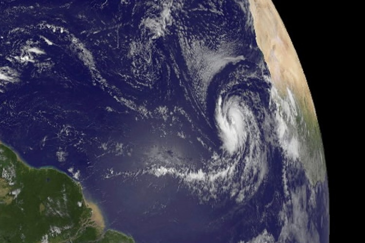 L'ouragan Fred vu de l'espace.... (Photo: AFP)