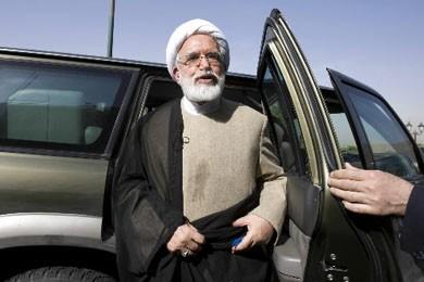Les bureaux de Mehdi Karoubi -opposant au régime-... (Photo Reuters)